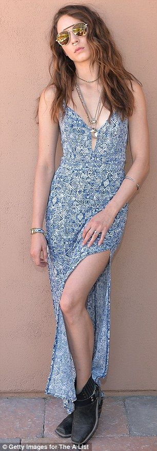 Vanessa Hudgens Dons Mint Crochet Top And Overalls For