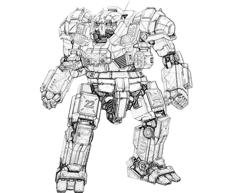 Mech Printable Mechwarrior Online Atlas Actions Coloring