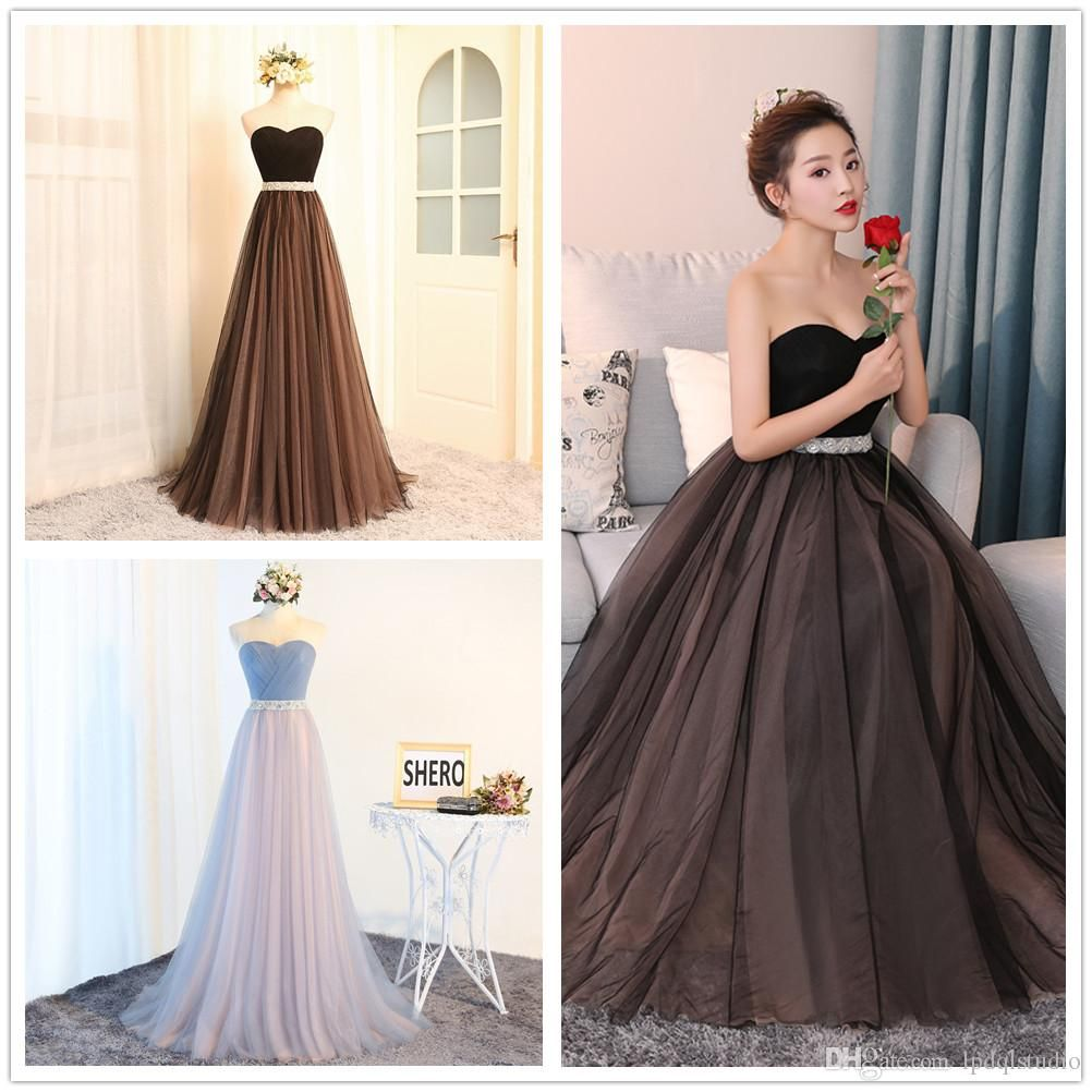 new arrival real pictures long bridesmaid dresses sweetheart