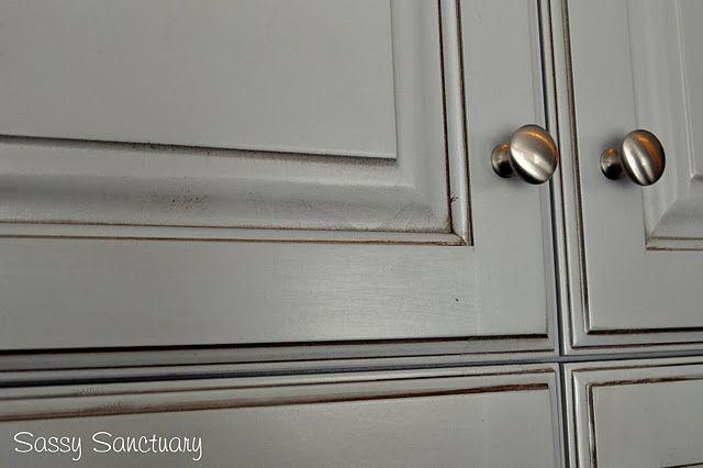 Best Grey Cabinet With Brown Glaze Kitchen Remodel Grey 400 x 300
