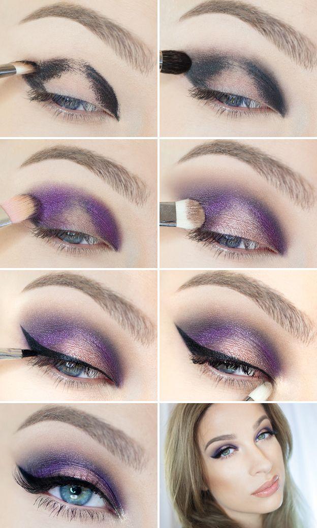 Как правильно красить голубые глаза: секреты макияжа (с ...