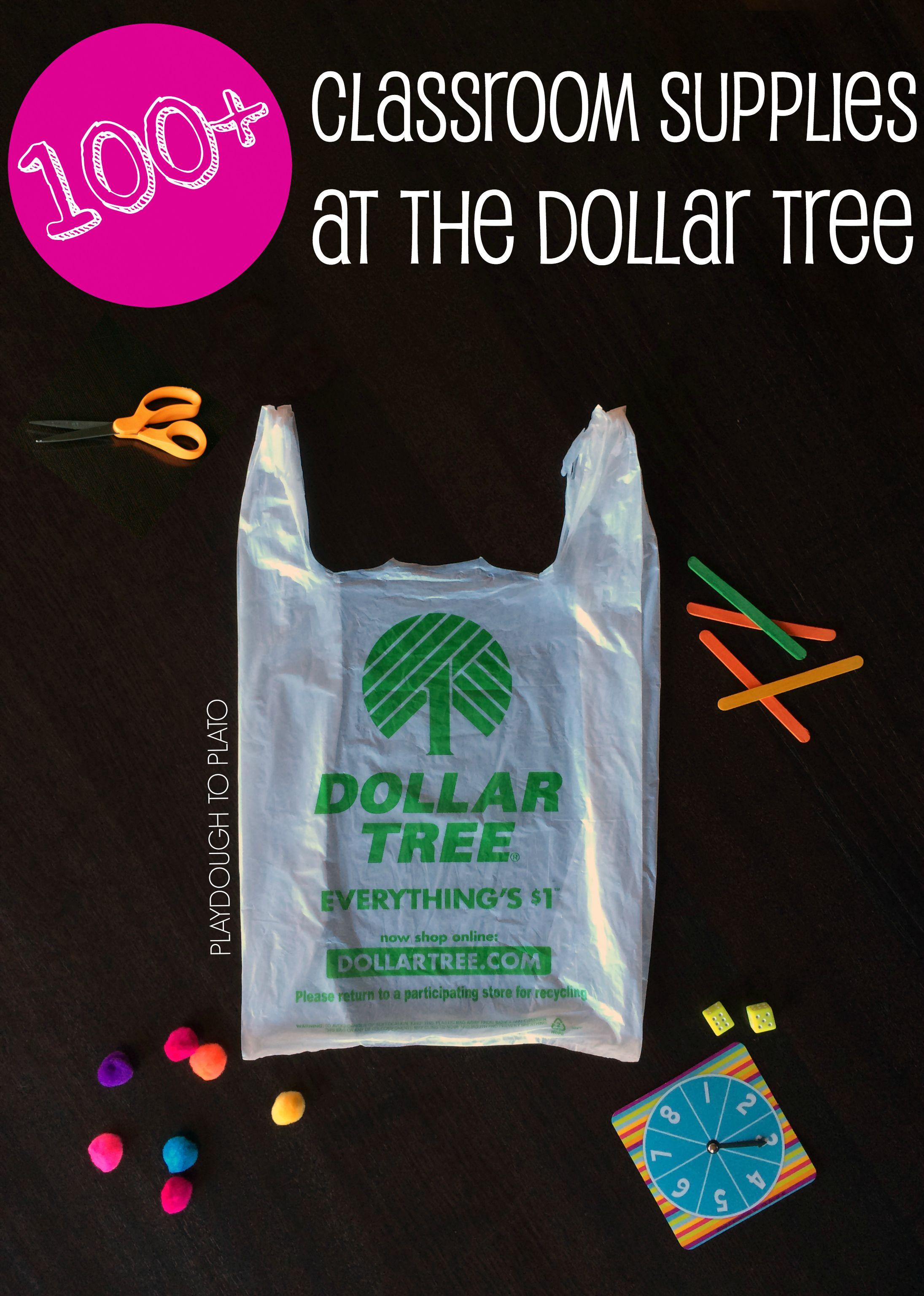 100+ Classroom Supplies at the Dollar Tree   Playdough To Plato ...