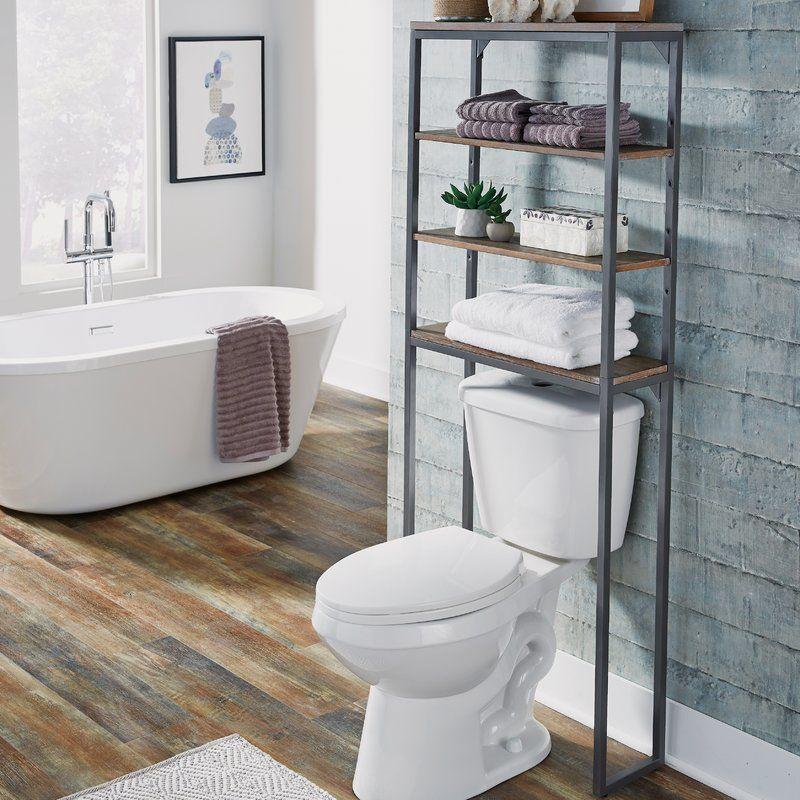 Eckles 25 W X 64 H Over The Toilet Storage Decoracion D Banos
