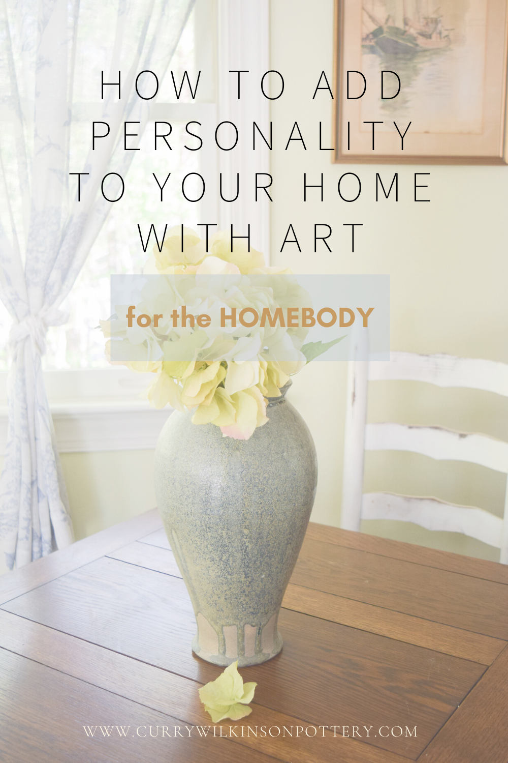 Grab our FREE guide: add personality to your home & tips for arranging with beautiful pottery & art. For your living room & other rooms in your home! #grandmillennialgoals #grandmillenial #grandmillenialstyle #housebeautiful #potterydesign #potterylovers #timelessclassic #houseandhome #classicdesign #timelessdesign #potterycollector #livingroomstyling #interiordesigning #interiordesignlovers #southernliving #southernlivinghome #chinoiseriechicstyle #decoratewithart #mysouthernliving #potteryart