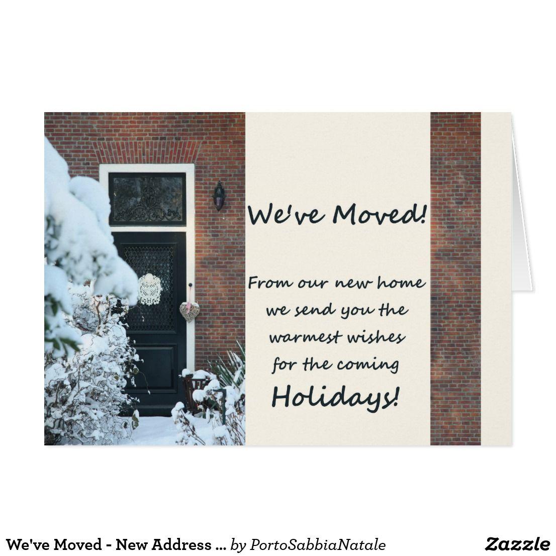 We\'ve Moved - New Address Christmas Card #portosabbianatale ...