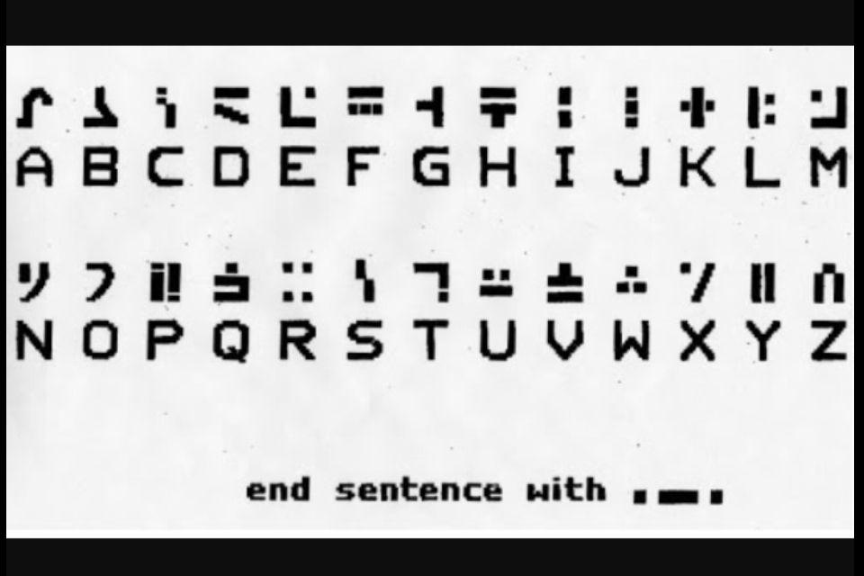 For All You Minecraft Lovers Does This Alphabet Ring Any Bells Alphabet Code Alphabet Symbols Alphabet
