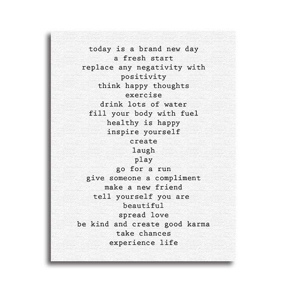 """Great sight for canvas prints of uplifting and motivating quotes for your home. Check it out!! """"Brand New Day"""" Canvas Print 16X20 – Quotrly $49  #quotes #motivation"""