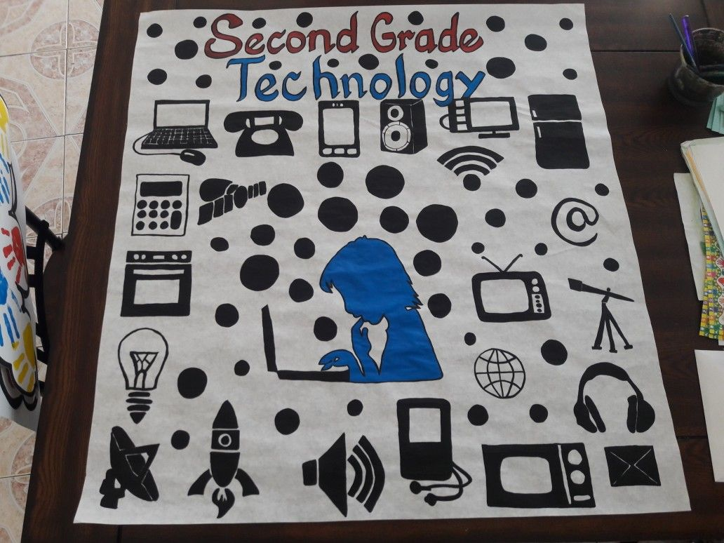 Technology Banner For My Second Graders Painted With