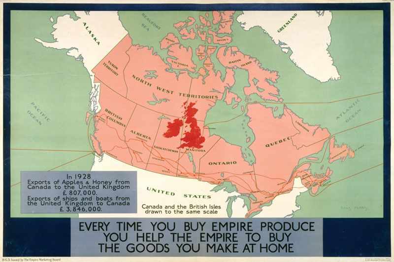 By juxtaposing maps of Great Britain and Canada, the EMB ...