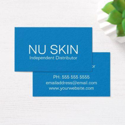 Simple Blue Nu Skin Distributor Business Cards