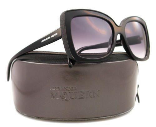 New Alexander McQueen Sunglasses amq 4218 Black 8079C Grey 56mm | eBay