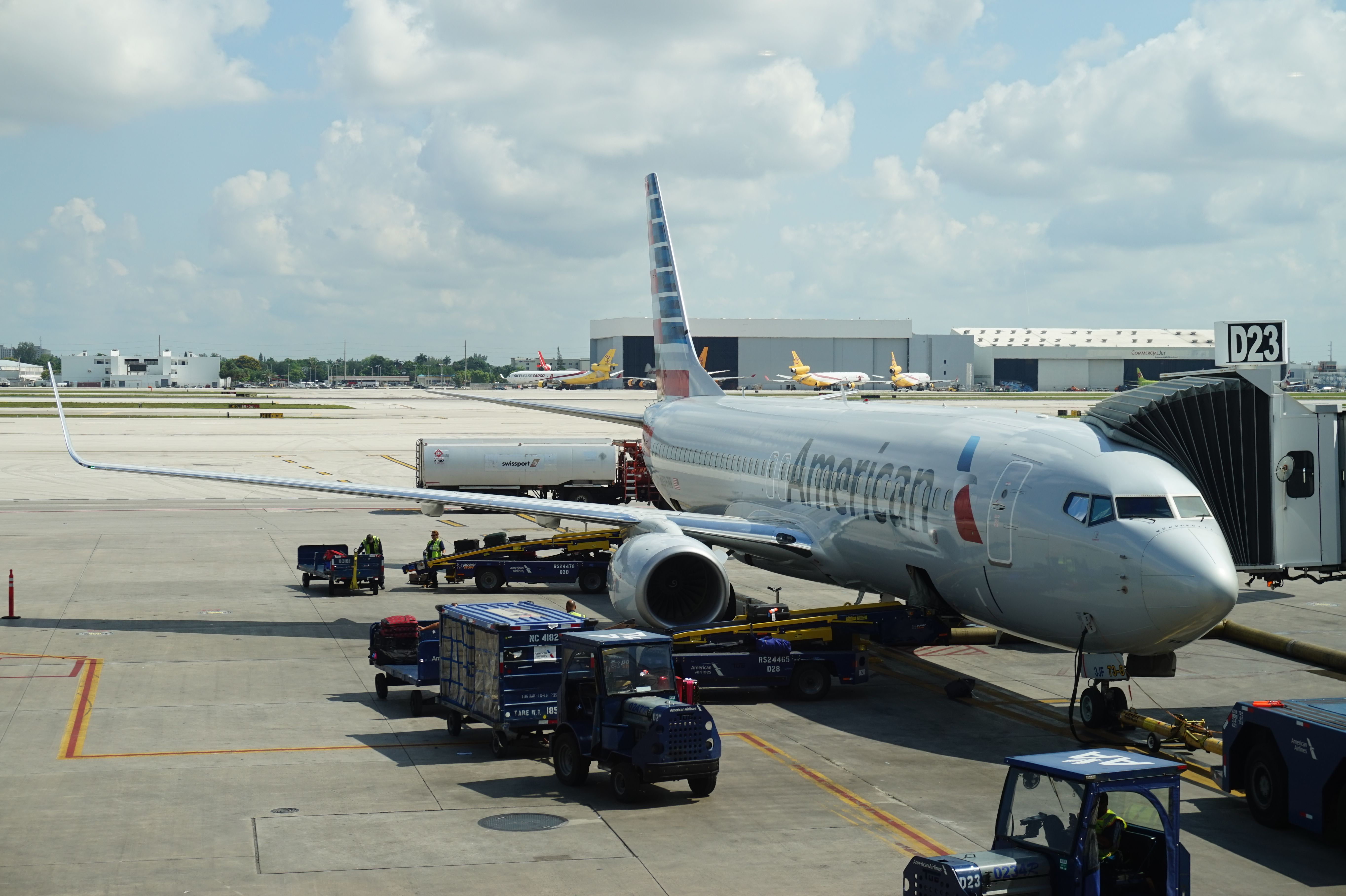 American Airlines A321 at Miami International Airport