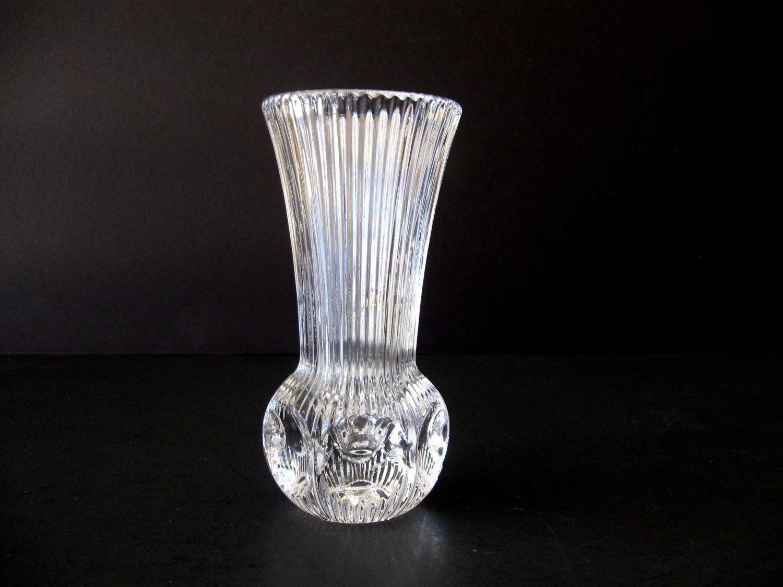 Vintage fostoria american lead crystal bud vase retired melissa vintage fostoria american lead crystal bud vase retired melissa pattern thumbprint bud vase by reviewsmspy