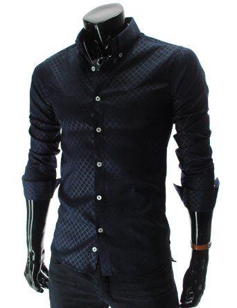 Diamond Pattern Slim Fit Shirt. Oblečení Pro ChlapečkyVzoryKošile Ke  SmokinguMódní MužiOsobnostPánské ... 94286a6bbe