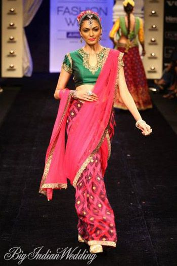 Neeta Lulla creation in pink-gorgeous see more trends in Indian bridal wear on http://www.weddingsonline.in/blog/indian-bridal-apparel-trends-2013-a-z-part-ii/