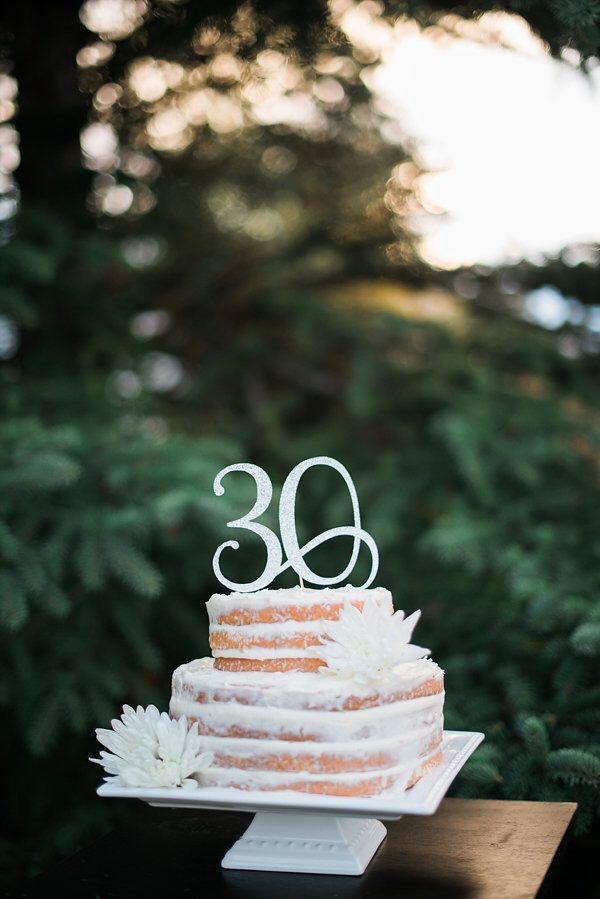 Happy Birthday Cake Topper Personalized Custom 30th Anniversary