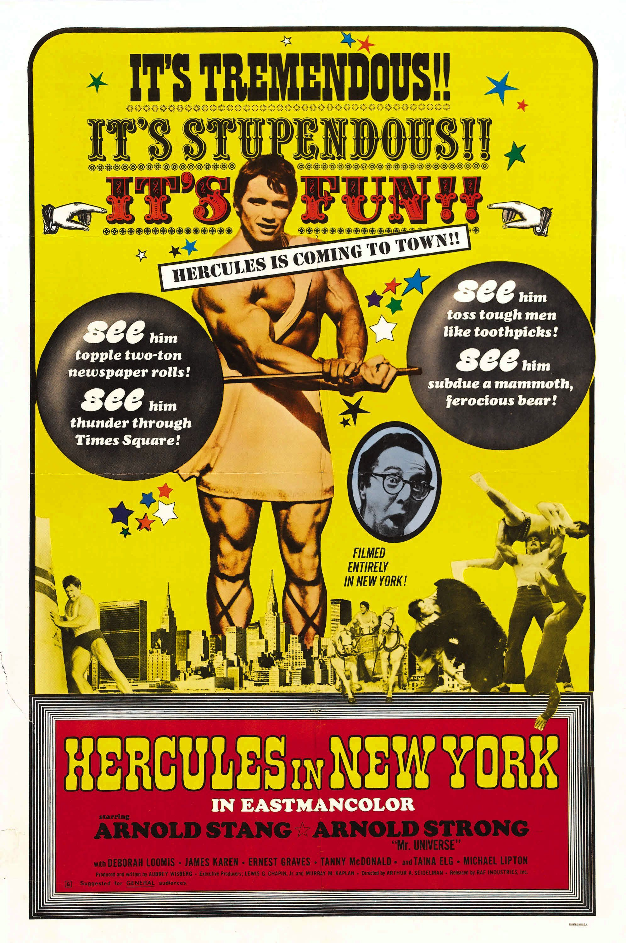 Hercules In New York 1970 A Sort Of Cute Movie With The Early