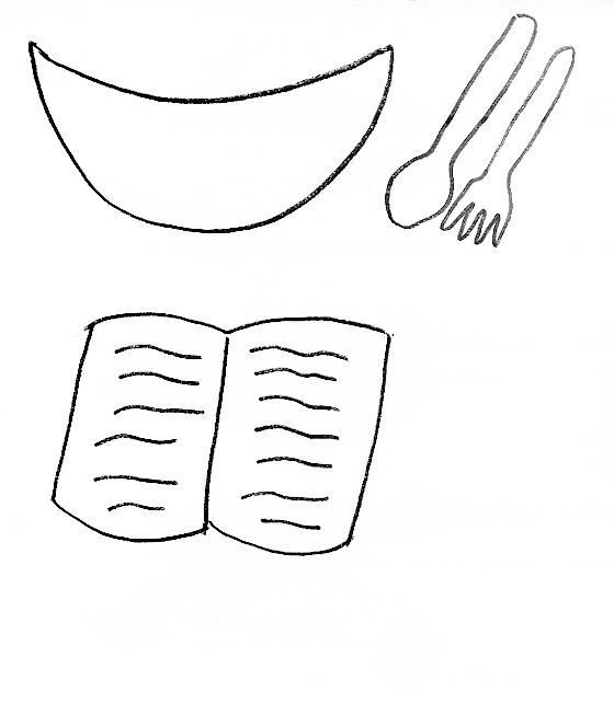 Activity for Mary and Martha (only use real bowl/spoon and