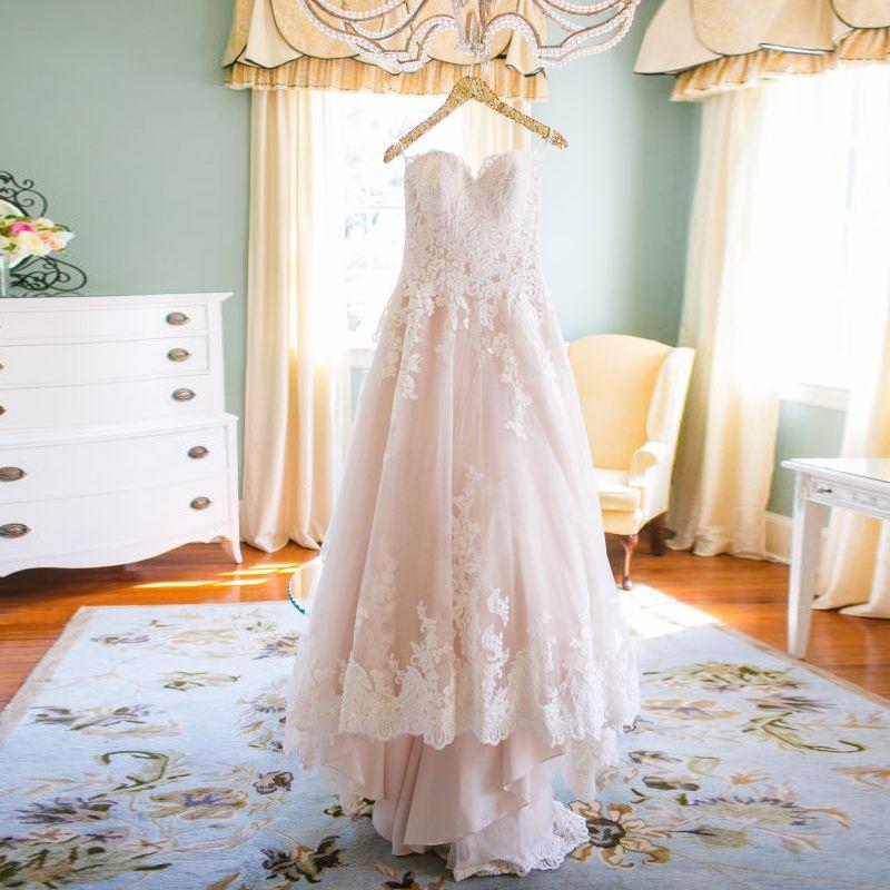 2015 Winter Appliques Lace Pink Wedding Dresses Plus Size Bride ...