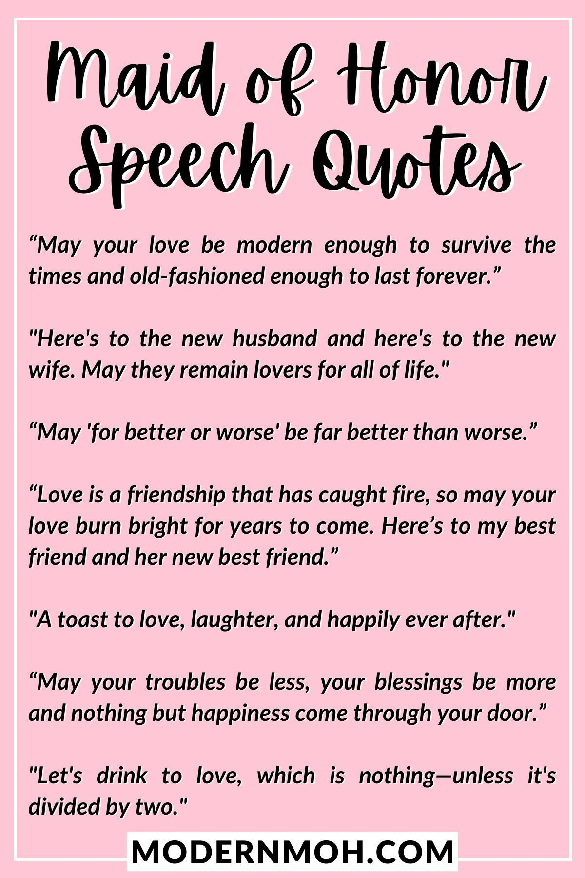 Maid Of Honor Quotes : honor, quotes, Honor, Speech, Quotes, Enhance, Toast, Quote,, Speech,