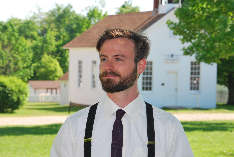 Fun country-wedding suspenders for the groomsmen
