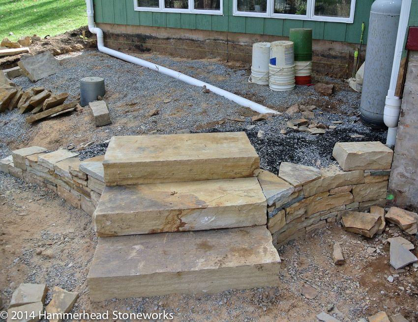 Marvelous Stone Slab Steps