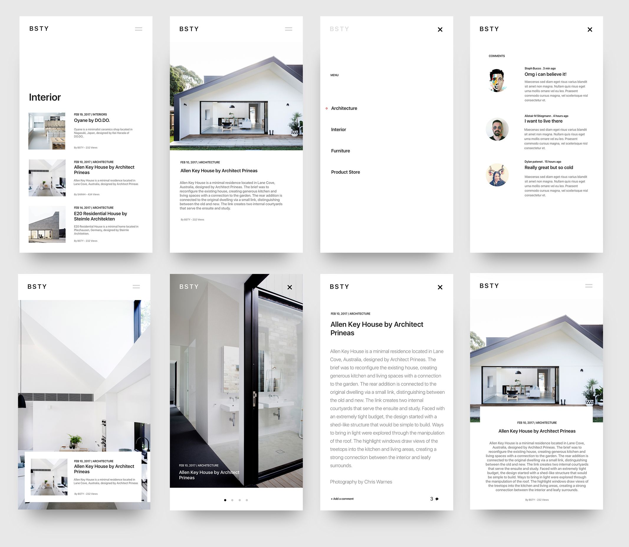 Blog minimal interior design by beasty dribbble web for Interior design web app
