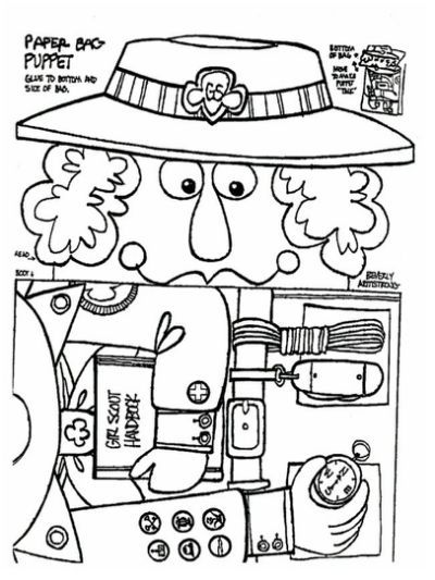 Juliette Low Coloring Page Coloring Brownie Girl Scouts Girl