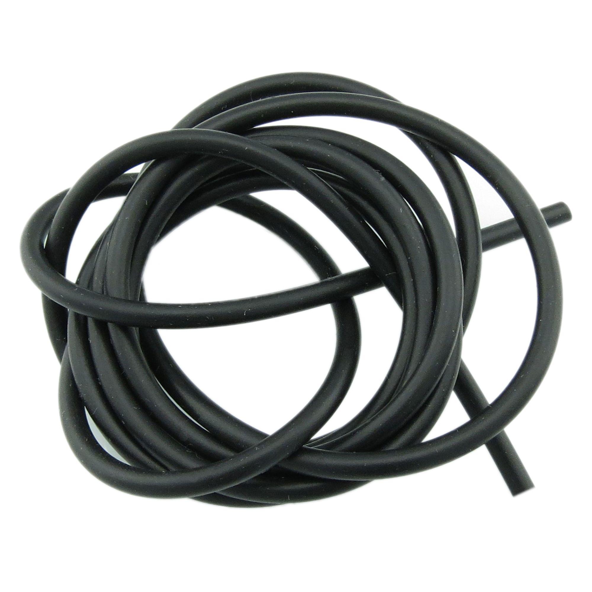 1m Kautschuk Band 3mm (1,48€ pro m) schwarz rund Gummi Schmuck Band ...