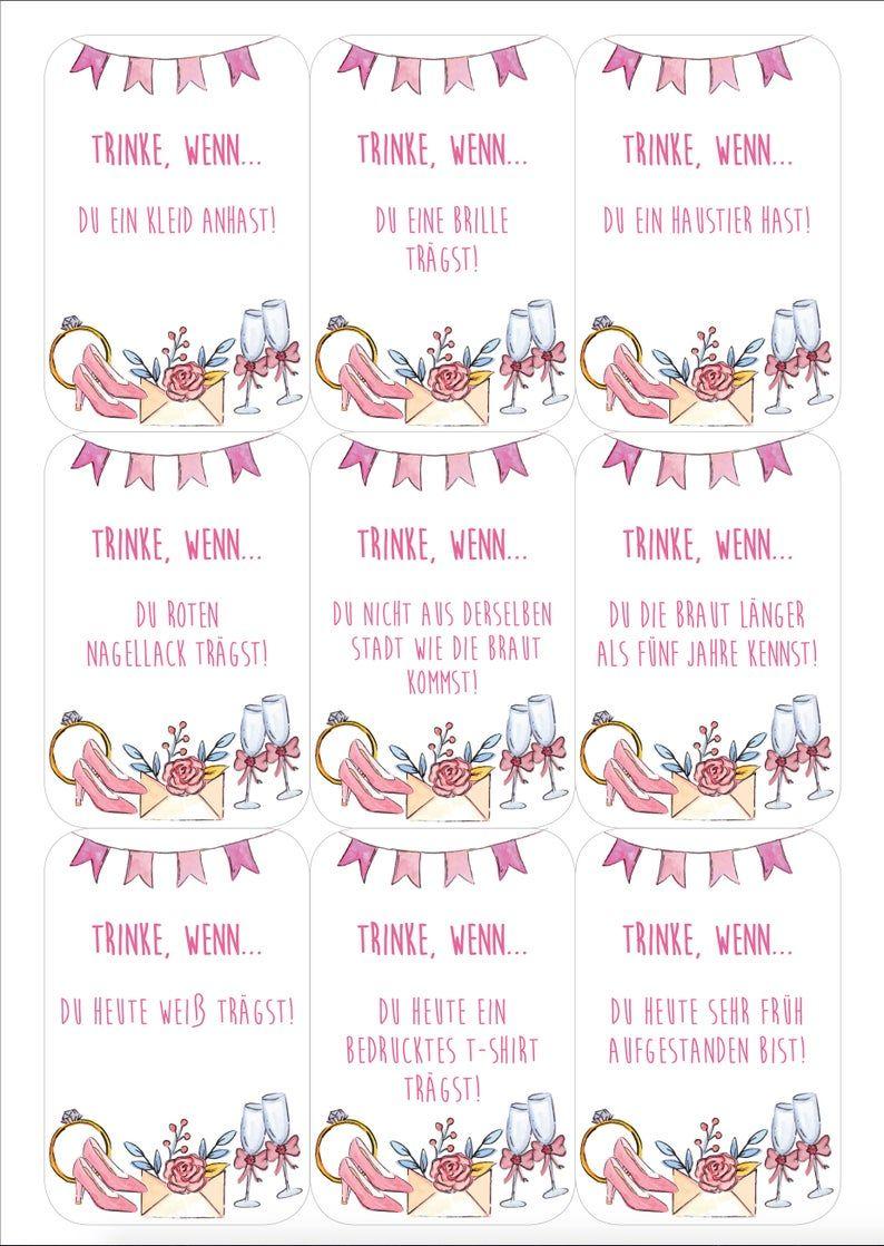 Jga Set Hen Party 6 Games In Set Guest Poster Junggesellinnenabschied Ideen Trauzeugin Hochzeit Trinkspiel