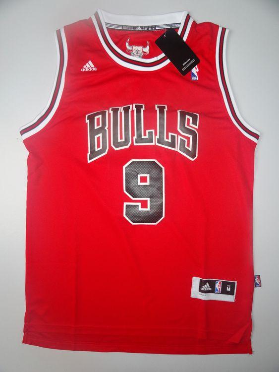 79ce6e79c00 NBA Chicago Bulls Deng  9 mesh Jersey-red