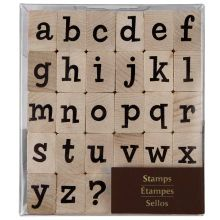 Recollections Wood Stamps, Large Lower Case Alphabet