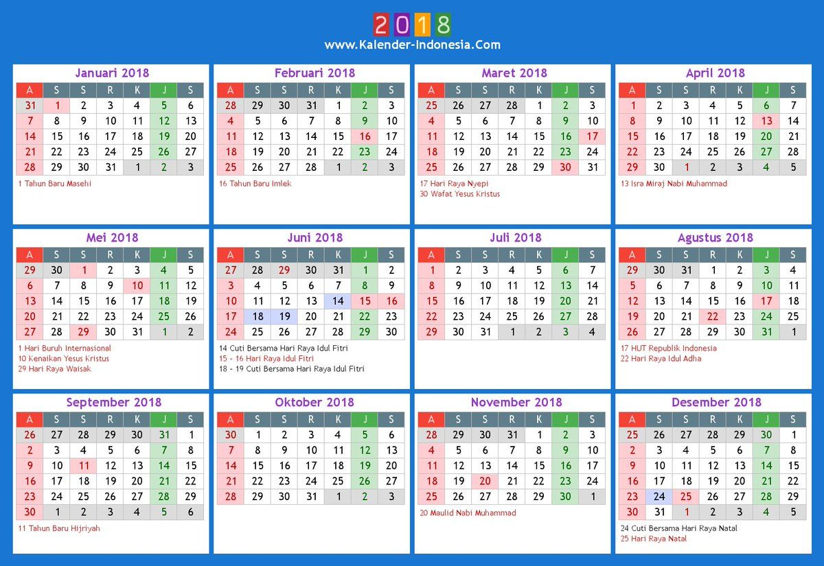 Image Result For Kalender Indonesia 2018 Calendar 2018 Printable Calendar Indonesia