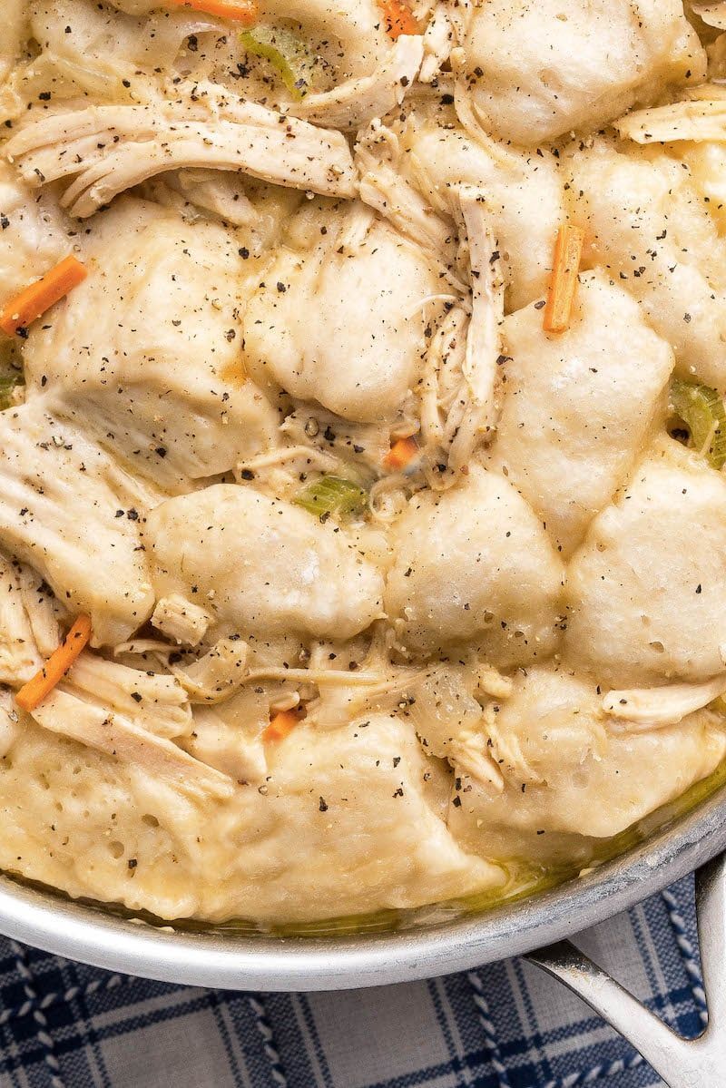 Need Chicken and Dumplings fast? This deliciously creamy
