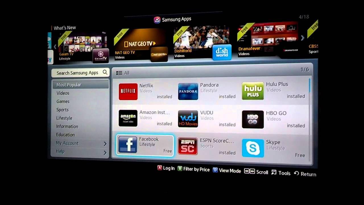 How to install apps on samsung tv samsung tvs app samsung