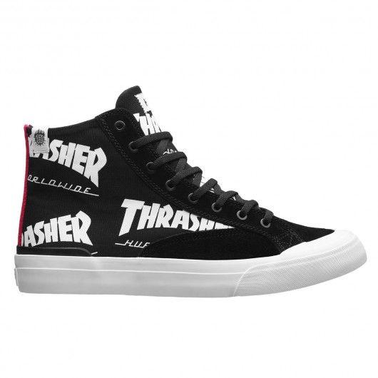 HUF X THRASHER Classic Hi black chaussures édition limitée Tour de Stoops  90,00 €