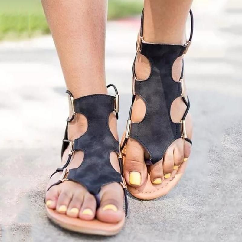 77c8b55bfddc Zipper Thong Flat with Casual Sandals ~  36.99 at leatrend.com