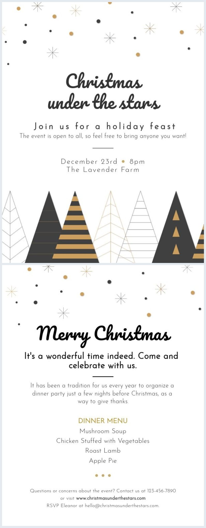 Minimalist Christmas Party Flyer Template Christmas Poster Design Christmas Card Design Christmas Invitation Card