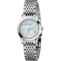0373c909e33 Gucci G Timeless Mother-Of-Pearl Diamond Dial Watch - 27mm