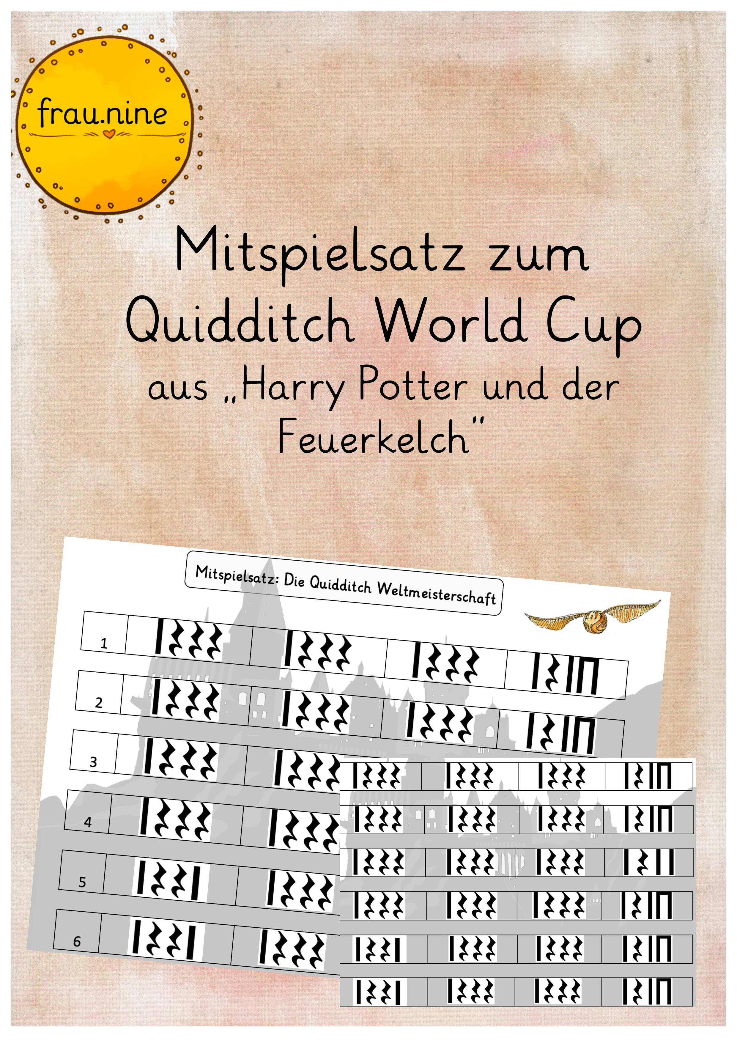 Ein Schulmonsterstarker Mitspielsatz Harry Potter Unterrichtsmaterial Im Fach Musik Mitspielen Einfache Satze Harry Potter Quidditch