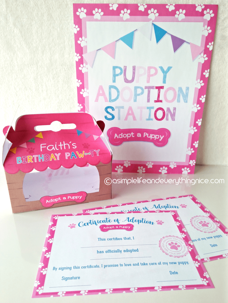 Free Puppy Adoption Certificate and Adopt a Puppy Printable Sign #petadoption