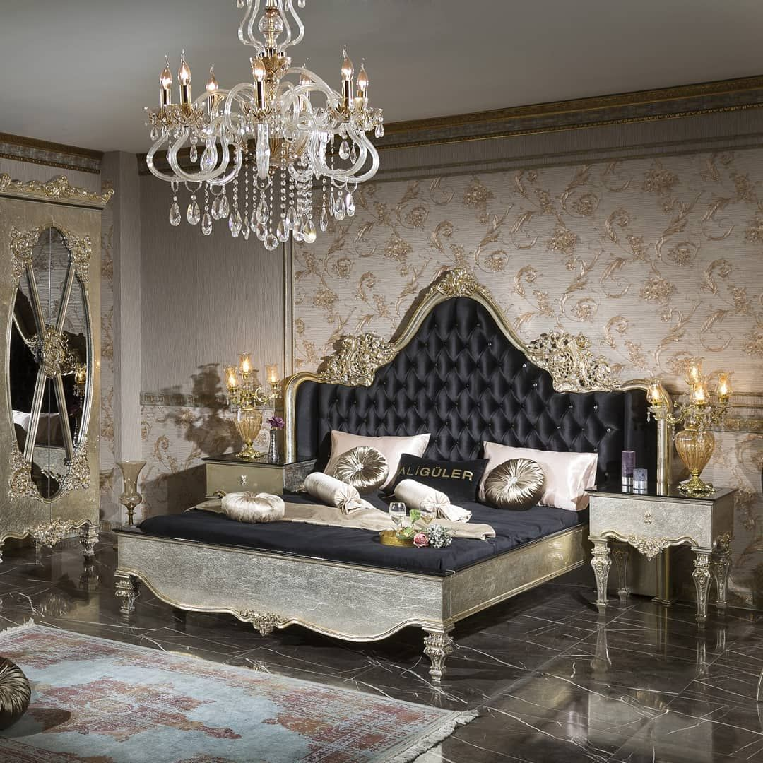 idil-silver bedroom set | silver bedroom, furniture, home