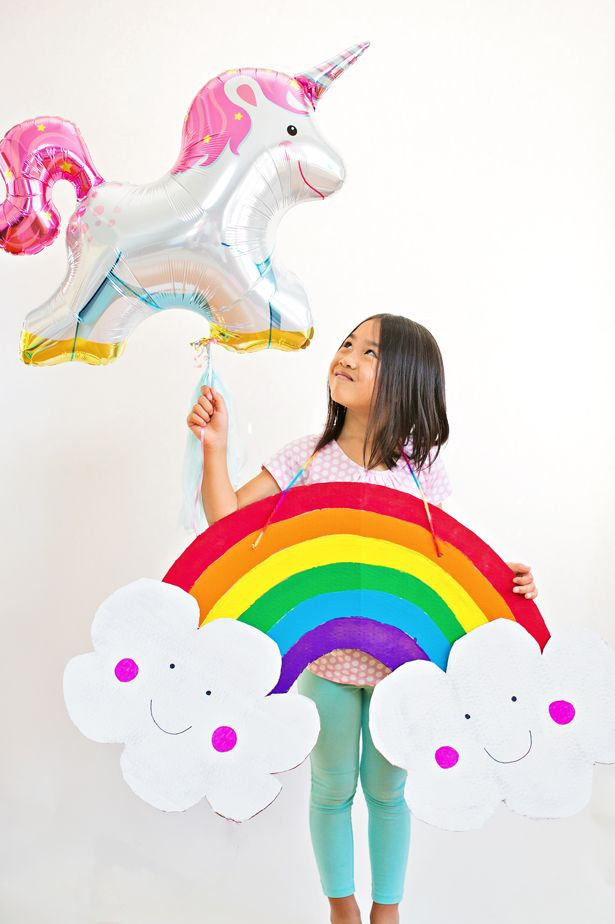 36aaf1f29d2b DIY Happy Rainbow Cardboard Costume for Kids. Make this easy Halloween  costume for kids in no time!