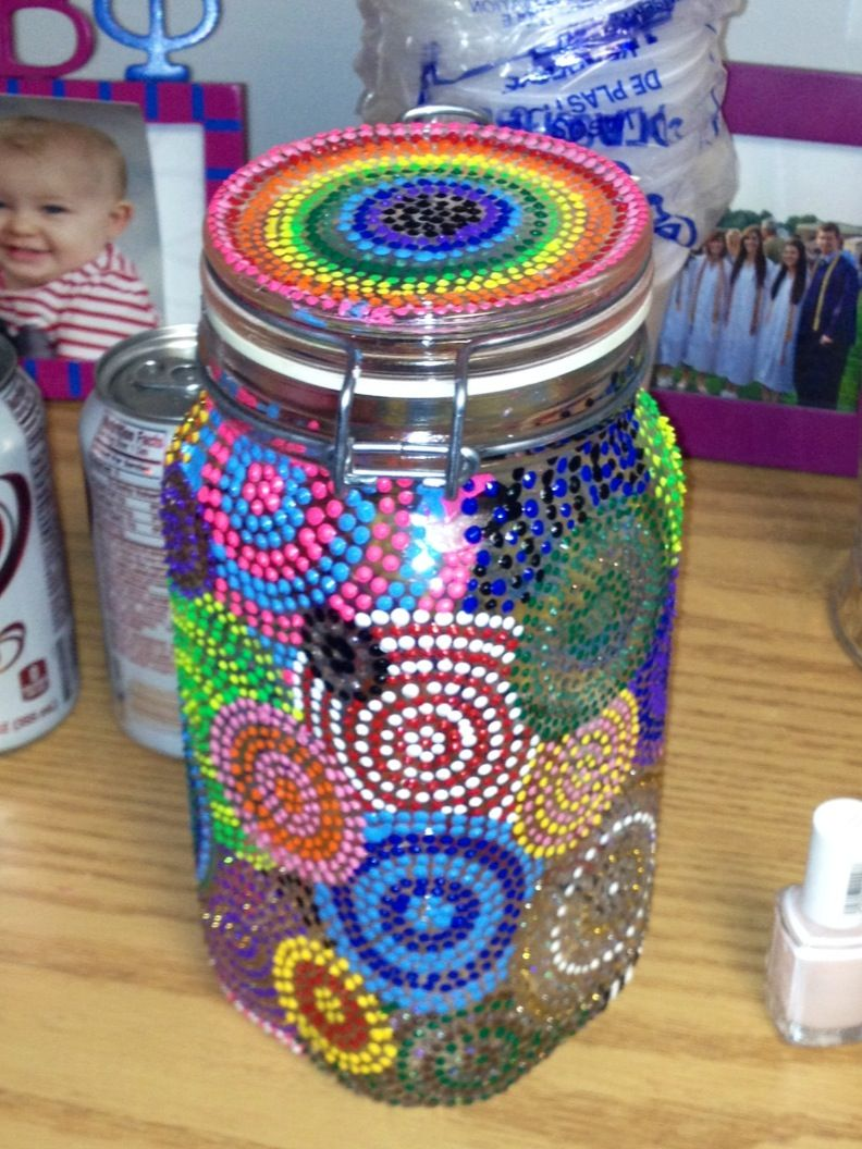 puffy painted decorated jar crafts pinterest craft