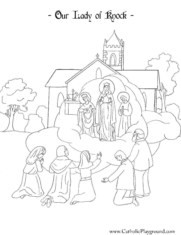 our lady of knock coloring page catholic playground - Free Playground Coloring Pages