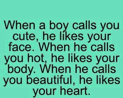 If a guy calls you cute