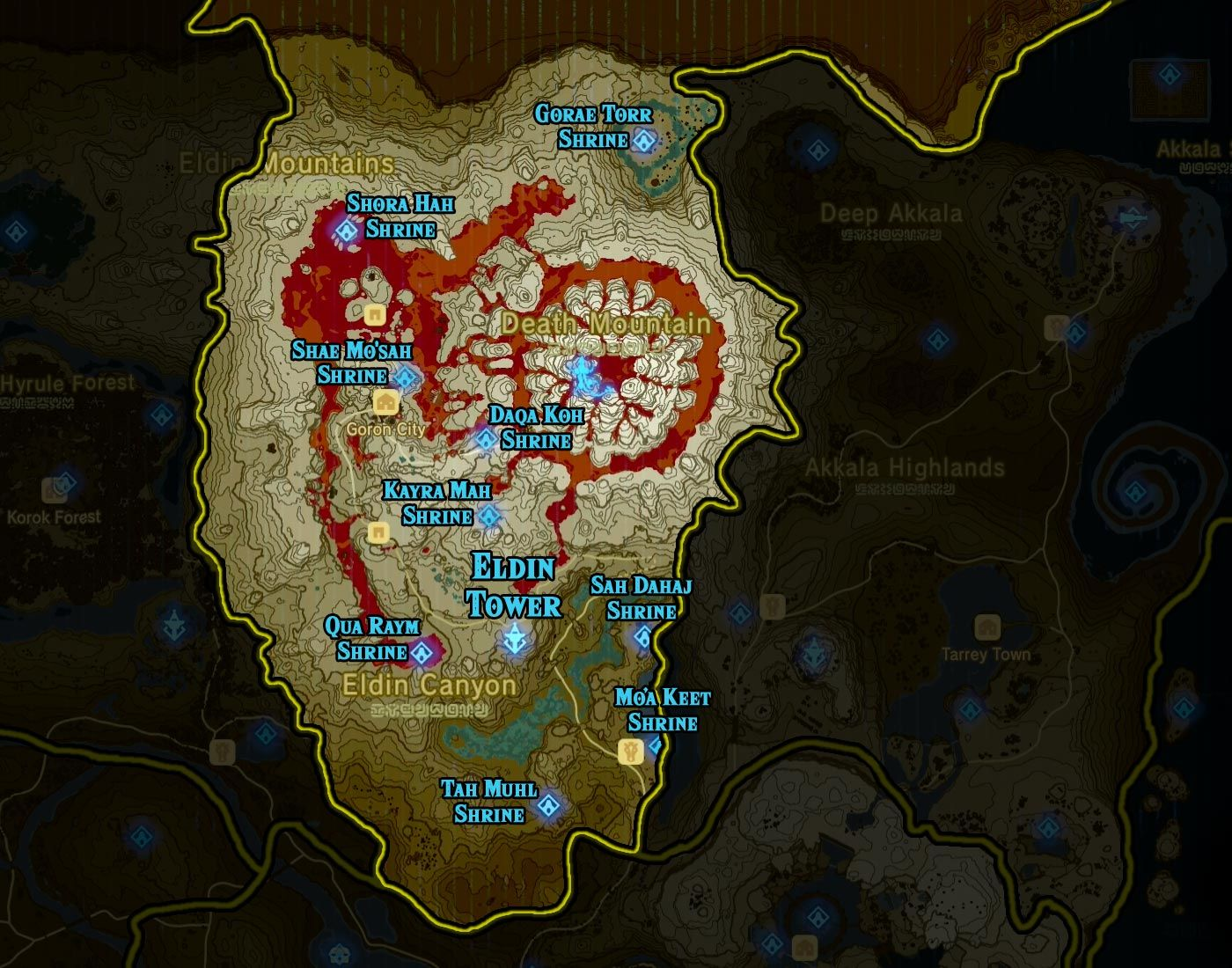 Zelda Breath Of The Wild Shrine Maps And Locations With Images