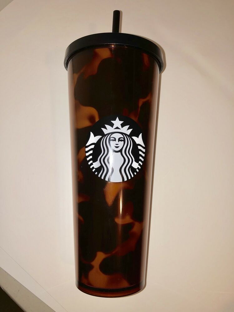 Starbucks Cold Cup Tortoise Shell Acrylic Tumbler Venti 24