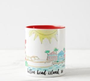 Hilton Head Island Coffee Mug Mugs Coffee Mugs Kiawah Island