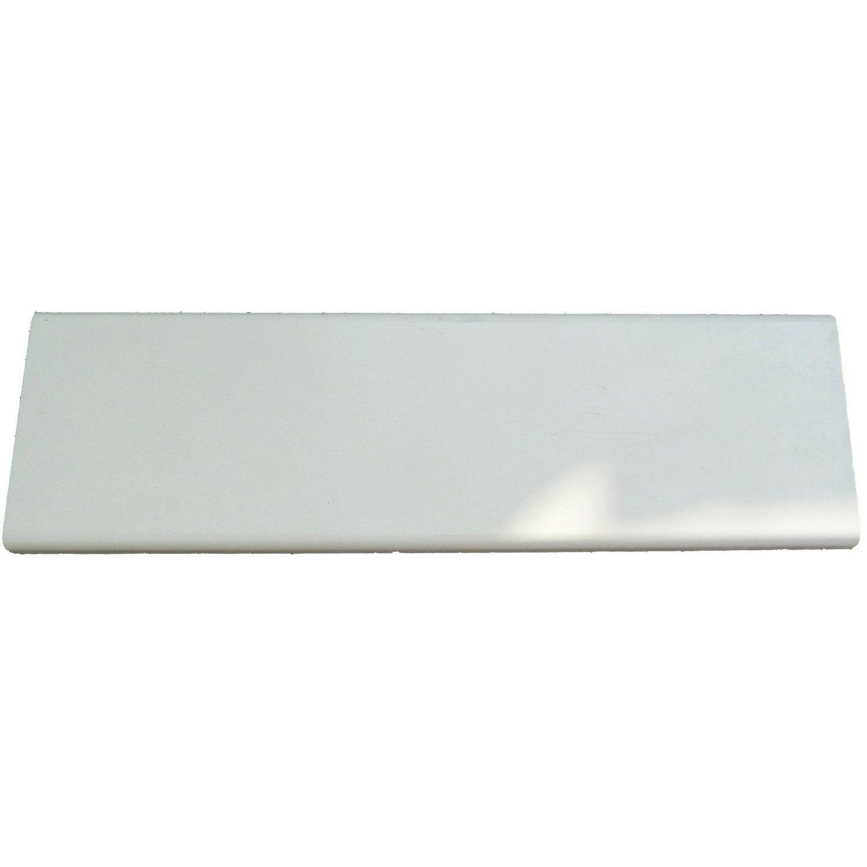 Couvre Mur Plat Chaperon Mur Plat Lisse Blanc H45 X L100